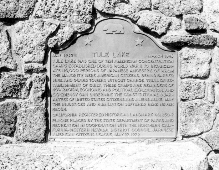 Tule Lake Plaque_Densho_10Apr15